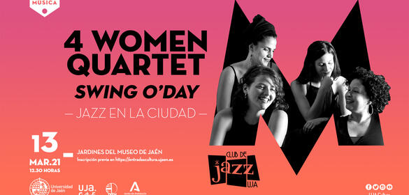 "Cartel del concierto de Jazz 4 Women Quartet ""Swing O´Day"""