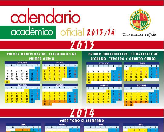 Calendario Ujaen.Calendario Academico 2013 2014 Vicerrectorado De Comunicacion Y