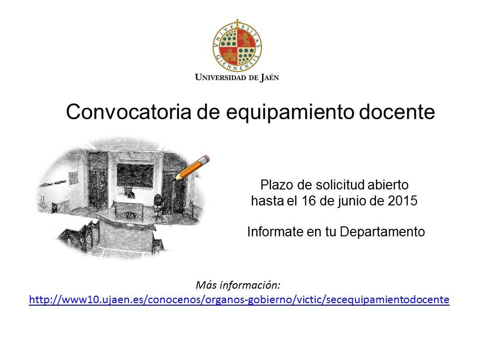 Convocatoria de equipamiento docente hasta el 16 de junio for Convocatoria para docentes
