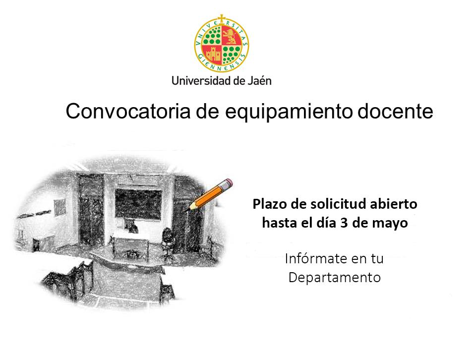 Convocatoria de equipamiento docente for Convocatoria para plazas docentes 2016