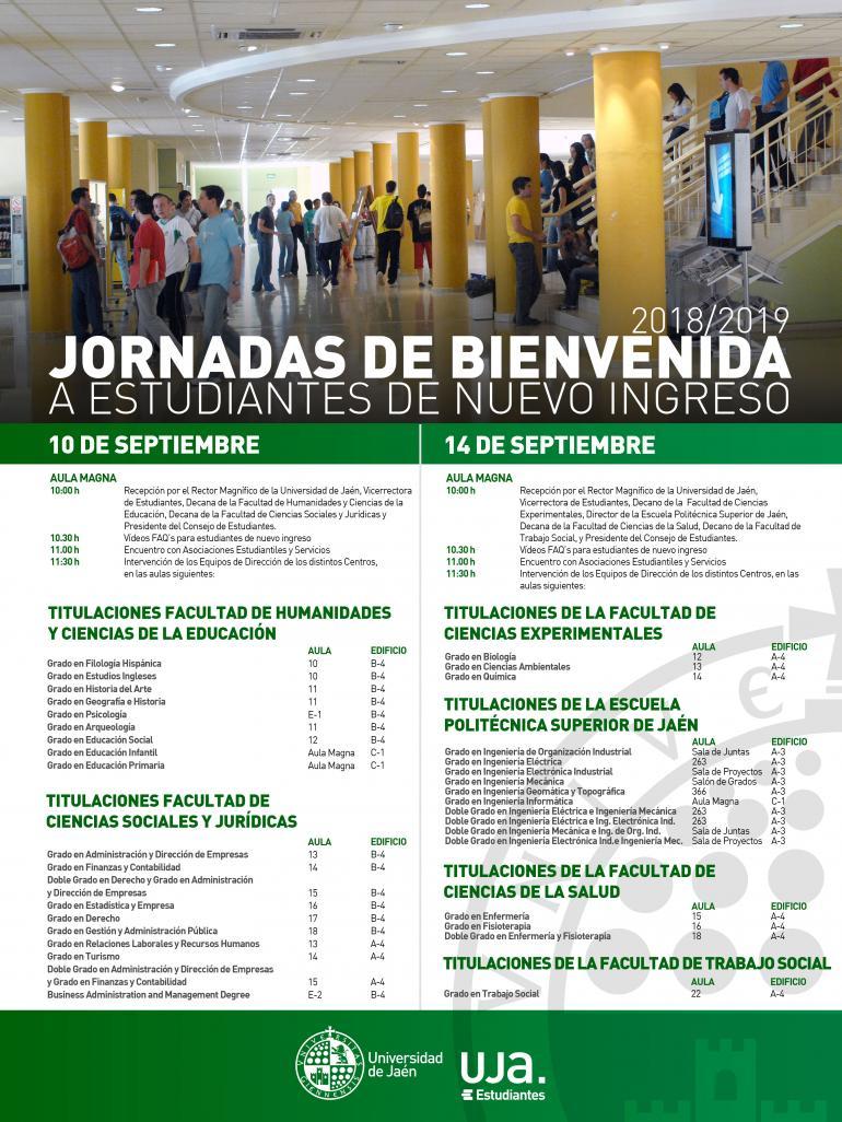 Calendario Ujaen.Informacion General Vicerrectorado De Estudiantes