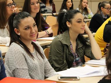 Estudiantes en un Aula de la Universidad de Jaén