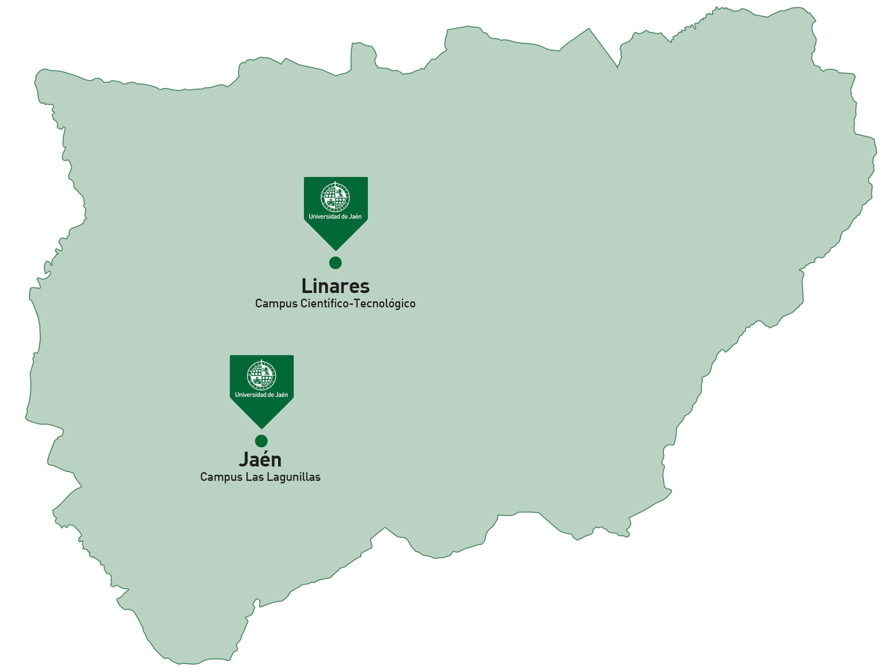 Los Campus Localizacion University Of Jaen